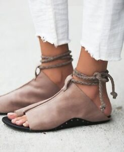 Womens-Flat-Chic-Gladiator-Open-Toe-Sandals-Roman-Retro-Open-Toe-Shoes-Pu