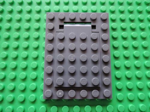 LEGO 1 x botola QUADRO 30041 30042 NUOVO GRIGIO SCURO 6x8
