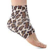 Ralyn Night Care Moisturizing Gel Heel Socks 1 Pair - Leopard Print