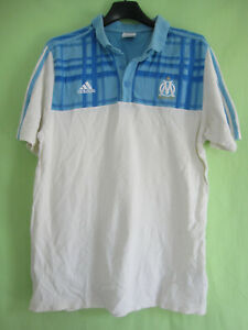 Polo Adidas Olympique Marseille OM maillot vintage Coton Jersey - M