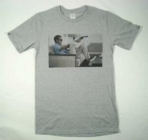 steve mcqueen grey t shirt size small xxxl retro vintage. Black Bedroom Furniture Sets. Home Design Ideas