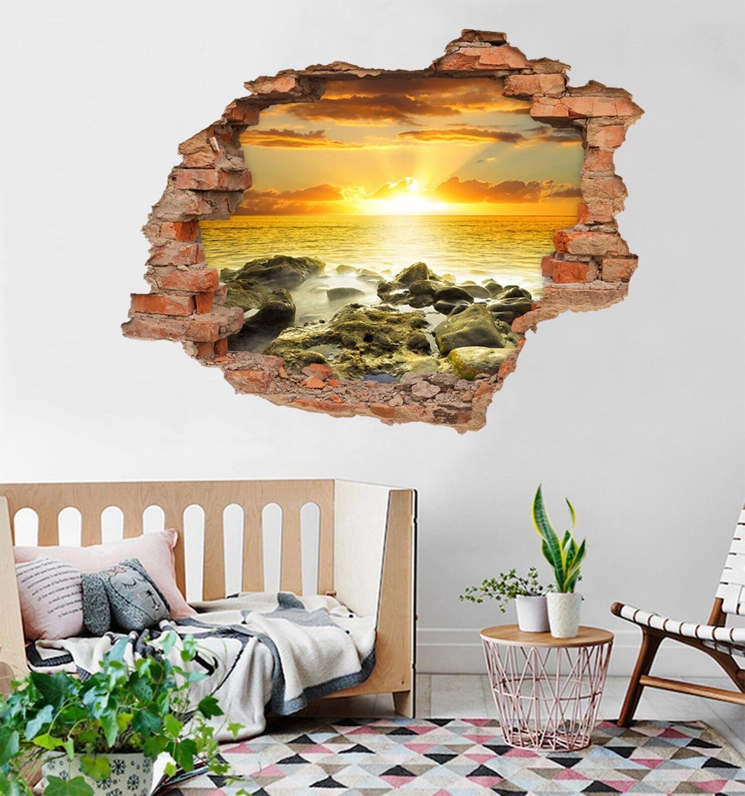 3D Helle Sonne 03 Mauer Murals Mauer Aufklebe Decal Durchbruch AJ WALLPAPER DE