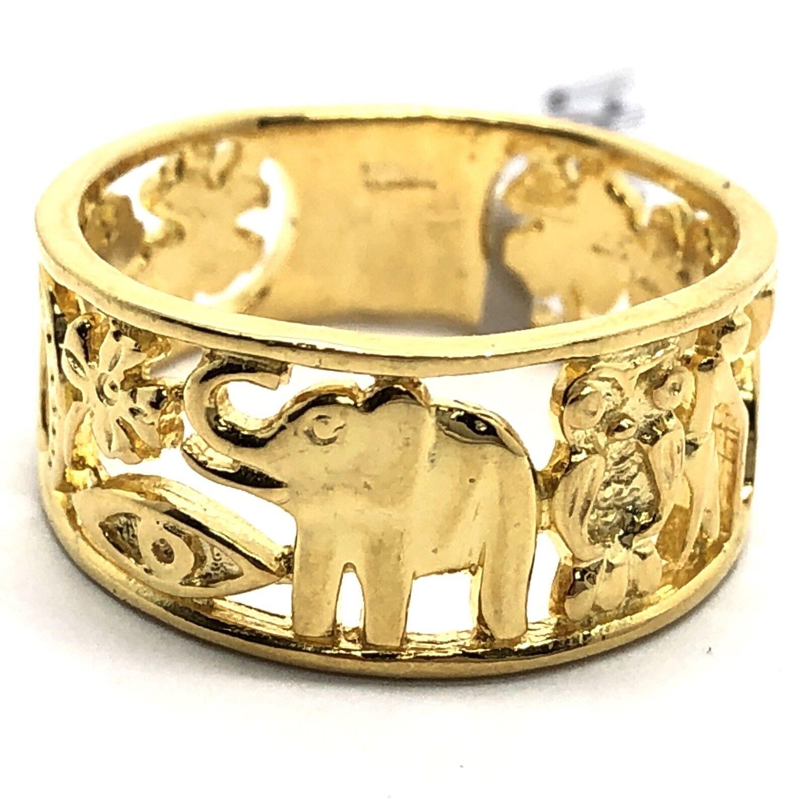 55d6fcdaab68f 18k Yellow gold Elephant Ring 4.61 grams uuop492143088-Precious ...
