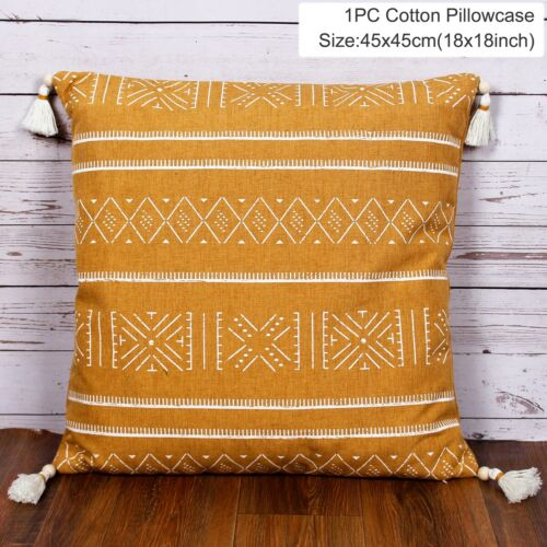45*45cm Cotton Thread Cushion Cover Boho Pillow Case Sofa Pillowcase Home Decor