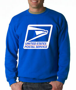 USPS LOGO POSTAL ROYAL BLUE CREW NECK Sweatshirt United States Service Employee