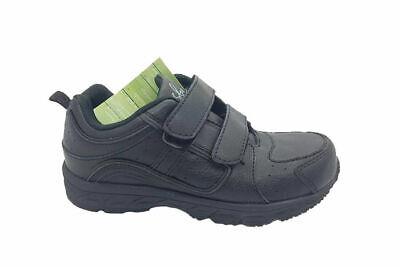 Boys Shoes Grosby Hewitt School Shoe Sneaker Hook and Loop Light Size 10-3
