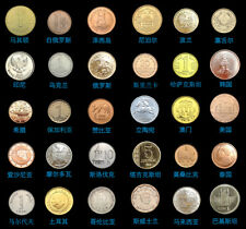 Set Lot 30 Pcs Coins From 30 Different Countries Most UNC Korea