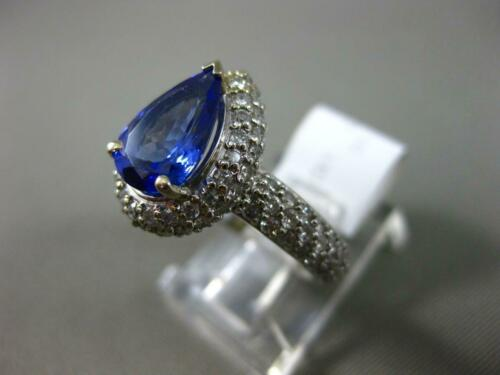 Details about  /3Ct Blue Pear Diamond White Halo Engagement Wedding Ring In 925 Sterling Silver