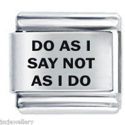 DO AS I SAY * Daisy Charms Fits Nomination Classic Size Italian Charm Bracelet