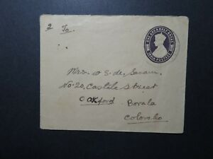 India-1943-1-5-Anna-Postal-Stationery-Cover-to-Ceylon-II-Z11686