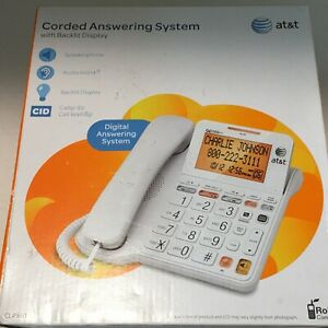 AT-amp-T-Seniors-Corded-Telephone-System-Answering-Machine-Caller-ID-Big-Buttons