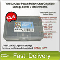 Clear Plastic Hobby Craft Organiser Storage Boxes 2 sizes available