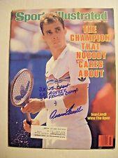 IVAN LENDL signed 1986 Sports Illustrated tennis magazine Autographed AUTO Czech