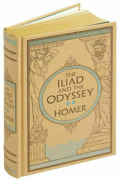 The Iliad and Odyssey by Homer Sealed Leather Bound Collectible Gift Hardback