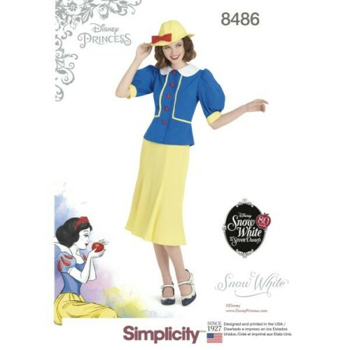 Simplicity Sewing Pattern 8486 Women/'s Vintage 1930s Inspired Snow White Costume