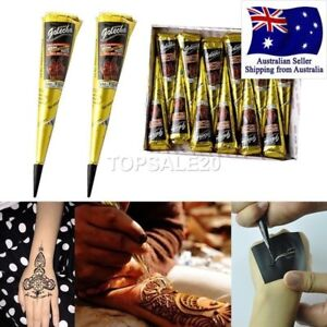 12 Pcs Full Box Henna Cones Giliter Cones Body Art Ebay