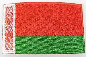 Weissrussland-Aufnaeher-gestickt-Flagge-Fahne-Patch-Aufbuegler-6-5cm-neu