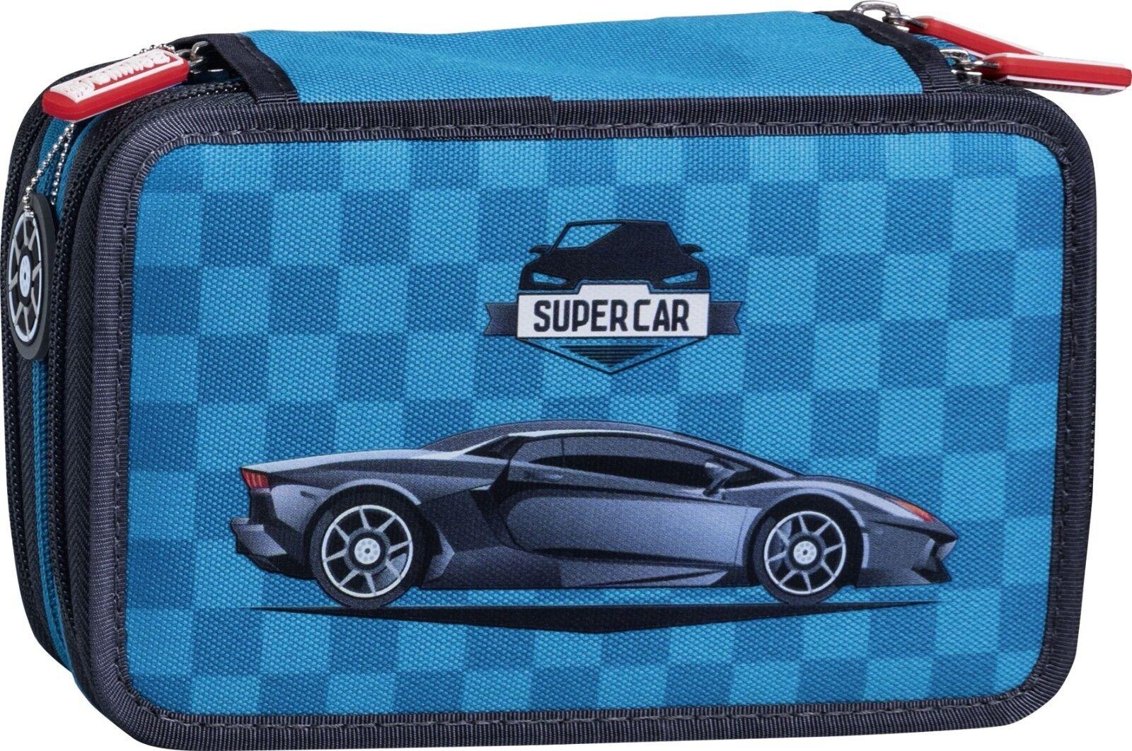 Federmappe 3 Etagen Supercar hochwertige Füllung Staedtler | Schöne Kunst  | Nicht so teuer  | Attraktive Mode