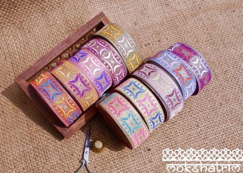 Estrella tradicional indio asiático Pastel geométrico Jacquard Cinta De Ajuste MA132