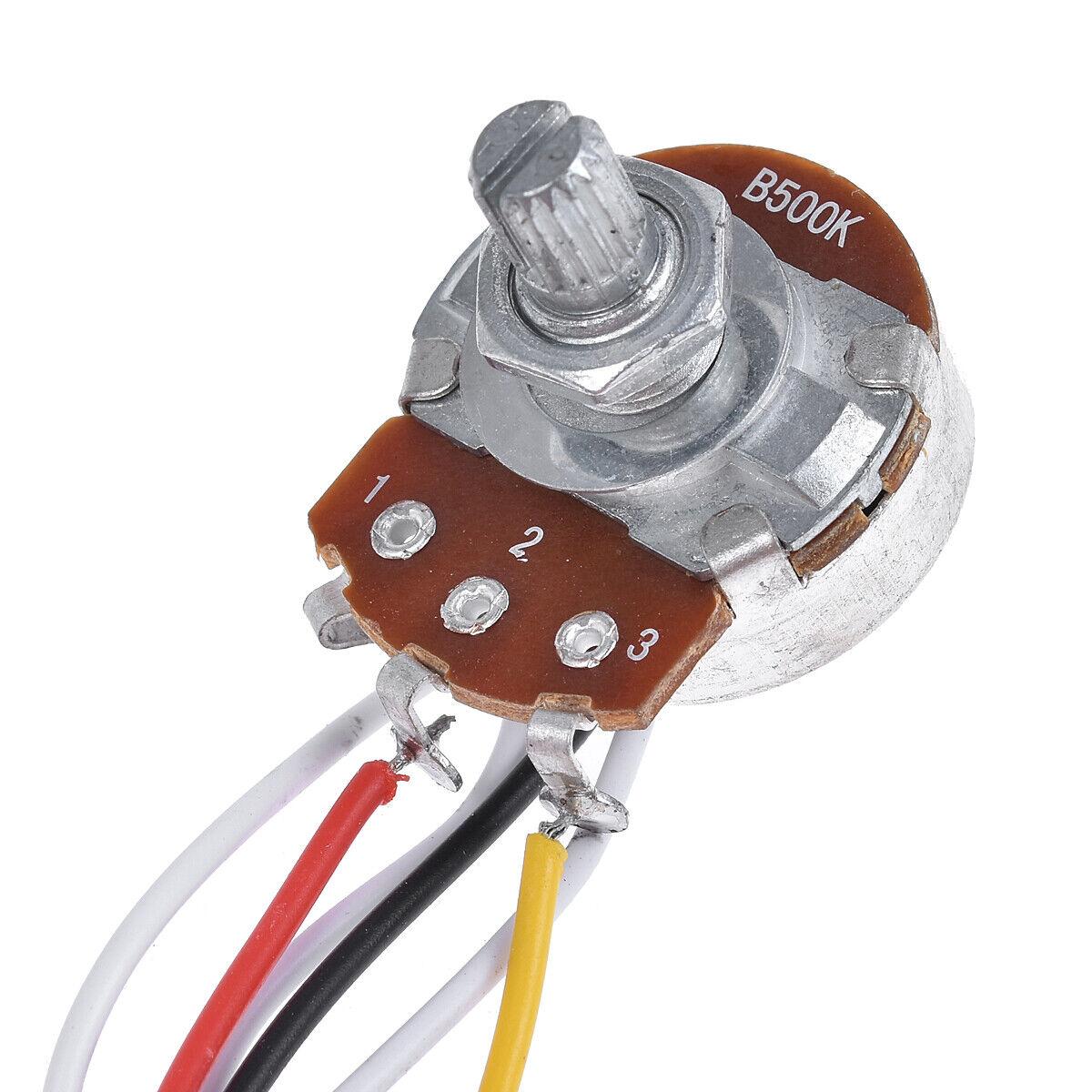 guitar wiring harness kit for strat parts 5 way toggle switch 500k 2t1v 2 pcs 634458683661 ebay. Black Bedroom Furniture Sets. Home Design Ideas