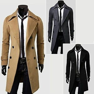 Men-Winter-Long-Jacket-Slim-Stylish-Trench-Coat-Outwear-Double-Breasted-Overcoat