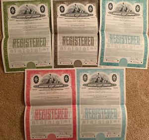 Duquesne-Light-Company-Set-of-5-1-000-Bond-Certificates-SPECIMEN