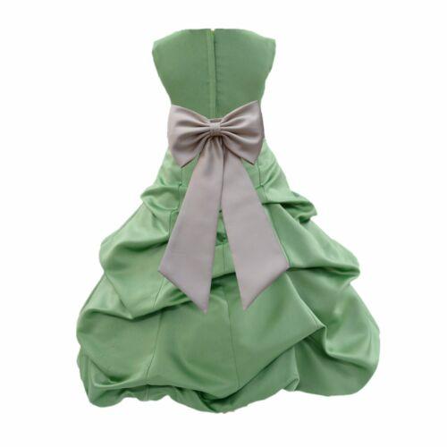 PATRICK DAY FLOWER GIRL DRESS WEDDING BRIDE Christmas Holiday CLOVER GREEN ST