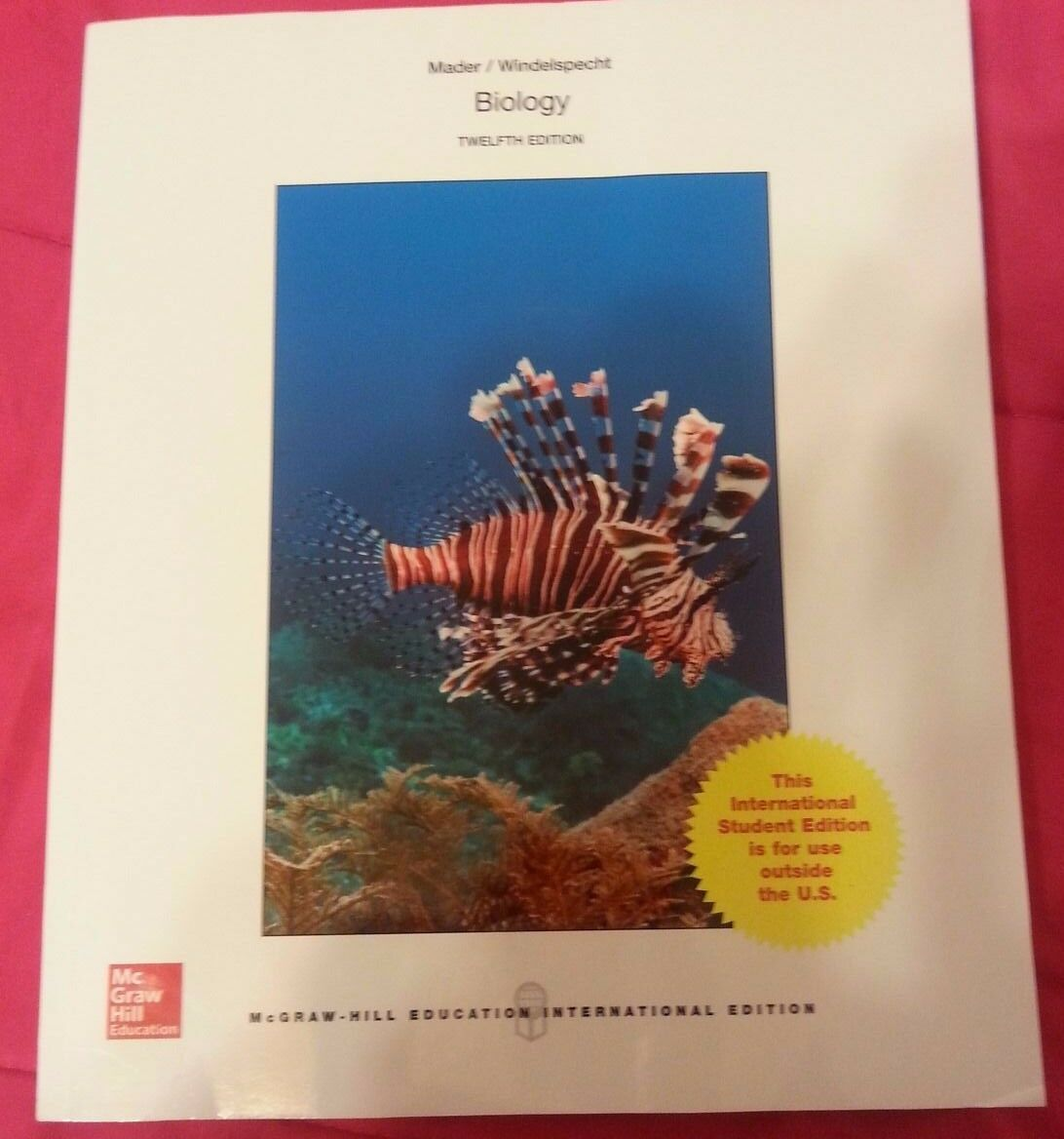 Ap biology mader biology by sylvia mader 2012 hardcover student ap biology mader biology by sylvia mader 2012 hardcover student edition of textbook ebay fandeluxe Gallery