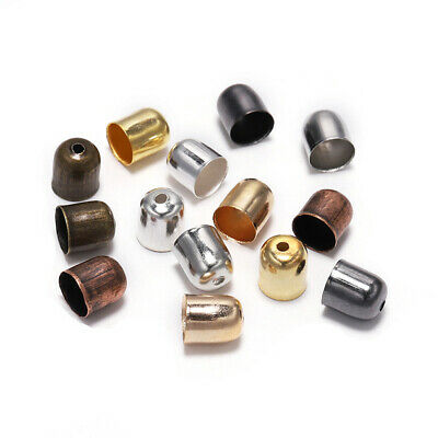 Cord Connectors Crimp End Beads Buckle For Jewelry Making Findings Diy 30PCS
