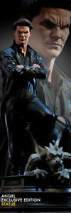 Buffy-Sideshow-Exclusive-Engel-Statue-106-250-Human-amp-Vampre-Rare-Boreanaz