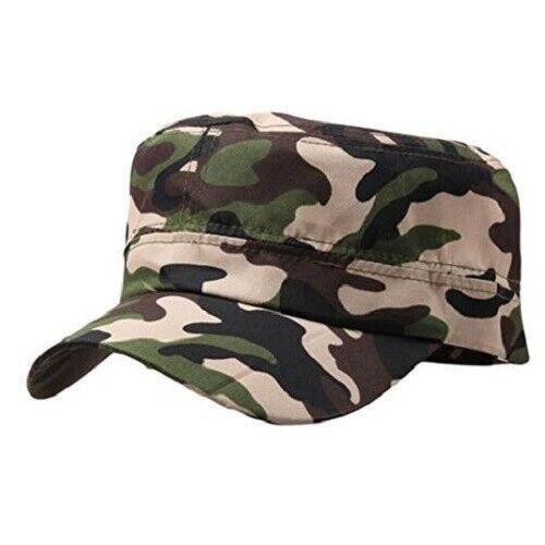Cadet Cap Military Army Cotton Hat Patrol Baseball Womens Mens Distressed