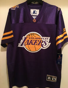 33aff39b266f Los Angeles LAKERS Football Men Jersey by STARTER-HERITAGE Football ...