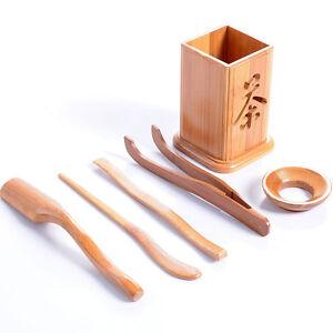 Ensemble-The-Bambou-Classique-Gongfu-Service-a-The-Outils-Petite-Soucoupe-Bois