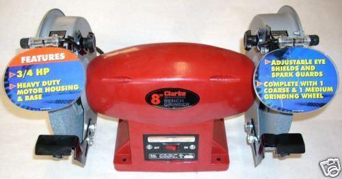 Phenomenal Clarke Bt2004 Metal Worker 8 Bench Grinder Dual Wheel 120V 3 4 Hp 3 6 Amp Bralicious Painted Fabric Chair Ideas Braliciousco