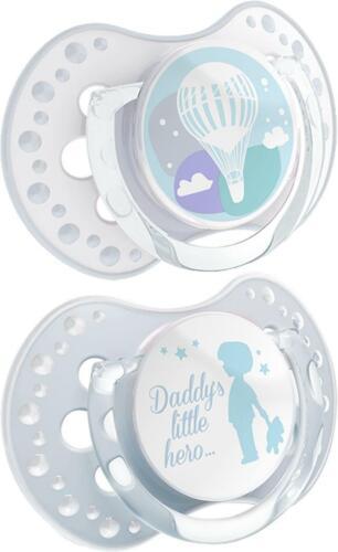 2Pcs Dummy sucette tétine mamelon anneau de dentition bébé soothe 0-3 M BPA Free Lovi