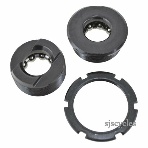 5 piece complete set fits old bikes BOTTOM BRACKET CUPS /& BEARINGS
