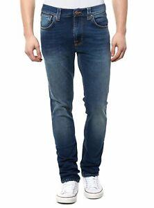 Nudie-Herren-Slim-Skinny-Fit-Stretch-Roehren-Jeans-Hose-Tape-Ted-Raddled-Redcast
