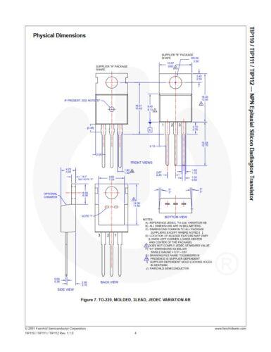 TIP110 NPN Darlington Transistors TO-220 10pcs NEW