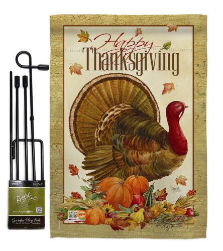 Thanksgiving Turkey Garden Flag Fall Small Decorative Gift Yard House Banner