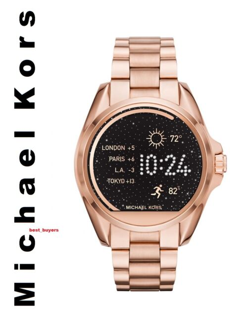 97f66e9bb751 Michael Kors Designer Watch Ladies Women s Connected Smartwatch MKT5004 Rose