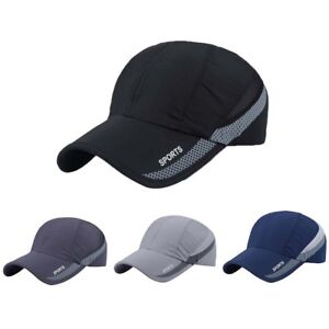 d3b04cd0cbf99 Men Women Outdoor Sun Visor Quick-drying Cap Baseball Mesh ...