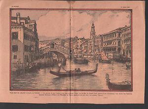 VUE-GRAND-CANAL-VENISE-GONDOLE-RIALTO-Venice-Venezia-ILLUSTRATION-1934