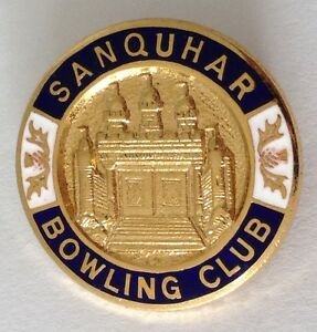 Sanquhar-Bowling-Club-Badge-Pin-Rare-Vintage-UK-M19