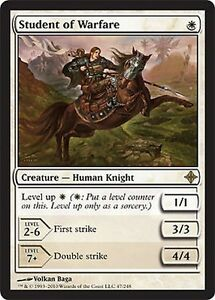 FOIL-Student-of-War-Student-of-Warfare-MTG-MAGIC-RoE-Italian-EXC