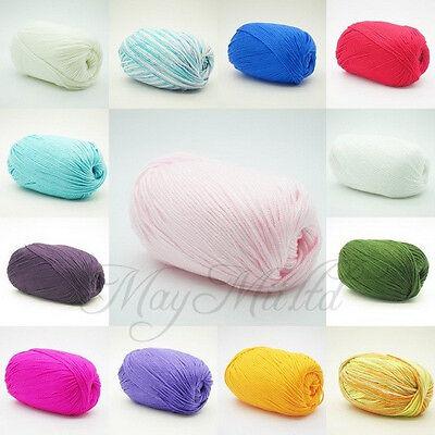 50g Skein Wholesale Smooth Super Soft Natural Silk Wool Fiber Baby Yarn BH