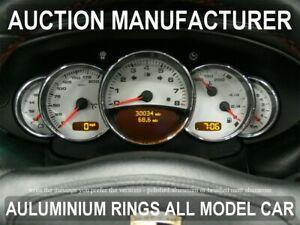 Teilig Aluminium Tachoringe Porsche  911 964 Tacho Ringe 993  5