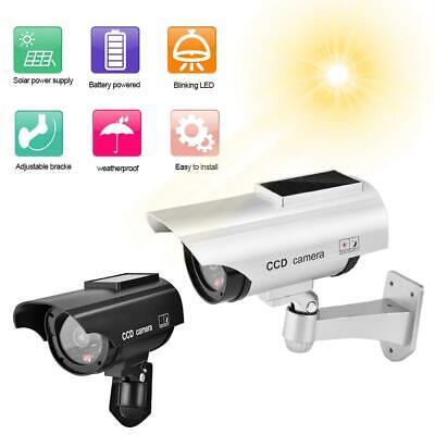 New Dummy Camera Security CCTV Anti Theft  Solar Power w// Red Flashing LED Light