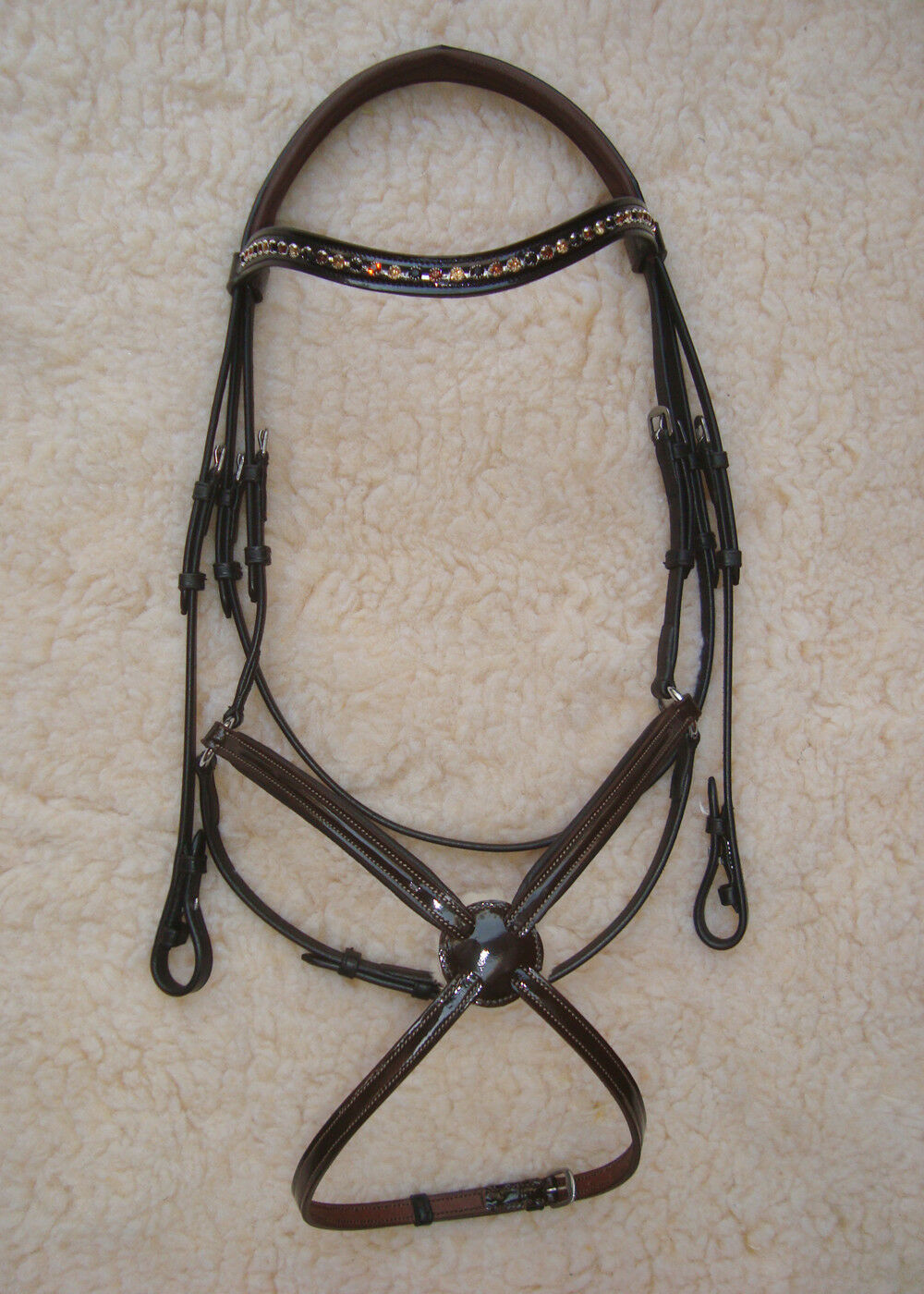Patent Leather Two tone  Figure 8   Mexican Bridle  quick answers