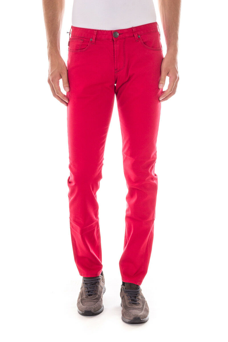 Pantaloni Armani Jeans AJ Jeans Trouser SLIM FIT Cotone men red C6J93LS 4N