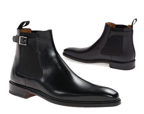 Mens Chelsea Handmade Classic Black Leather Boots Formal Casual Leather Boots